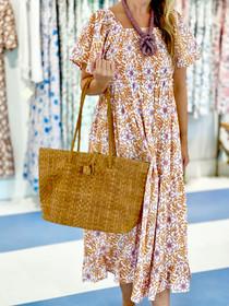 Grace Holiday Isla Dress, Frond Maple