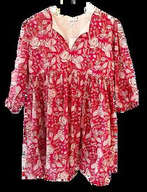 Grace Holiday Sully Dress, Cranberry Chintz