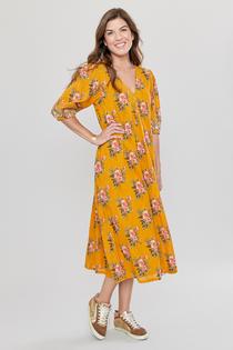 Pink Chicken Emmerson Dress, Inca Gold Franken Floral
