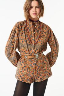 Antik Batik Fanny Blouse, Brown