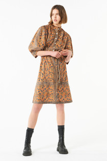 Antik Batik Fanny Minidress, Brown