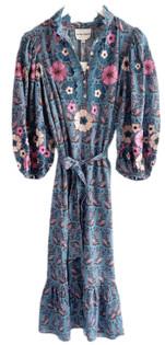 Antik Batik Pauline Long Dress, Blue