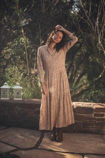 Trovata Mamie Long Dress, Sepia
