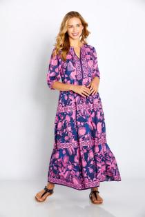"Bella Tu Astrid 48"" Tier Dress, Navy"