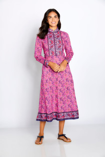 Bella Tu Darcy High Neck Dress, Pink