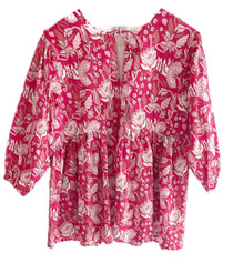 Grace Holiday Sully Top, Cranberry Chintz