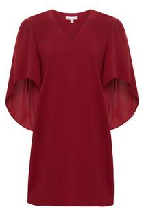 Anna Cate Meredith Dress, Crimson