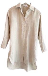 LJC Designs Harper Shirt Dress, Natural