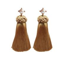 Pearl Tassel Earrings, Gold