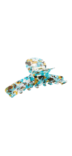 Large Crescent Claw Clip, Blue