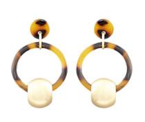 Acrylic Circle Door Knocker Earrings, Tort