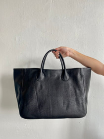 Beck Medium Classic Leather Beck Bag, NYC Black