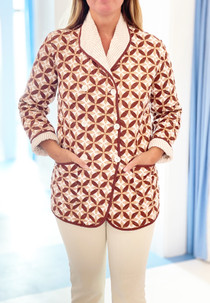 Livro, The Quilted Jacket, Mocha Geo