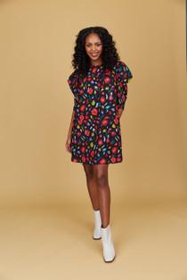 Crosby Baker Dress, Brushed Blooms