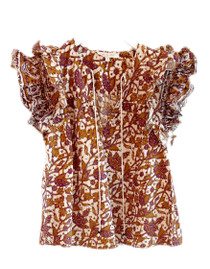 Love the Label Flutter Sleeve Top, Mabel Khaki
