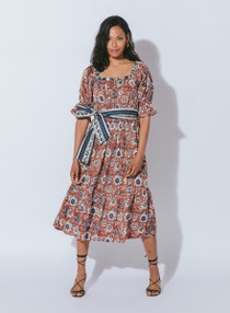 Cleobella Catalina Midi Dress, Sienna Block Print