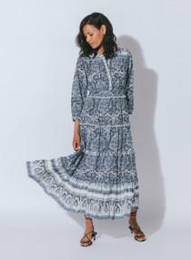Cleobella Dalia Midi Dress, Rishi Block Print