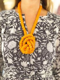Trade Beads, Matte Burnt Orange