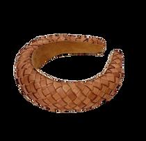 Leather Headband, Cognac