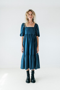 A Bronze Age Serenity Puff Dress, Pacific Plaid