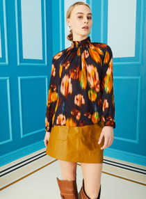 Marie Oliver Arden Blouse, Sapphire