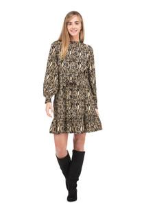Joy Joy Placket Dress, Snake Print