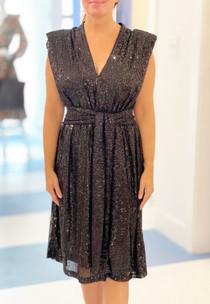 Sofia Luxe Dress, Black