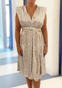 Sofia Luxe Dress, Champagne
