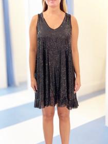 Sofia Piza Dress, Black
