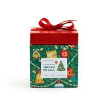 Two's Company Christmas Tree Shape Jigsaw Puzzle