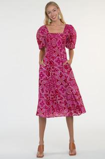 Olivia James Bridget Midi Dress, Tile