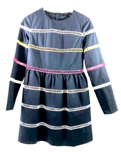 English Factory Cutout Striped Dress
