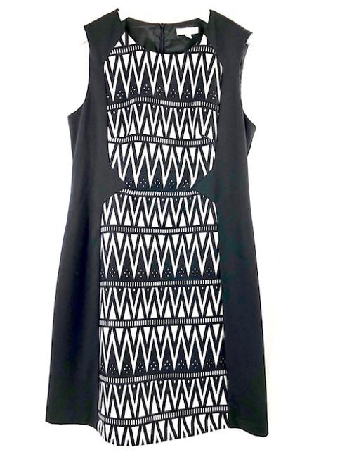 Jade Black Zigzag Knit Dress