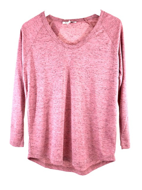 Joy Joy L/S Scoop Neck Tee
