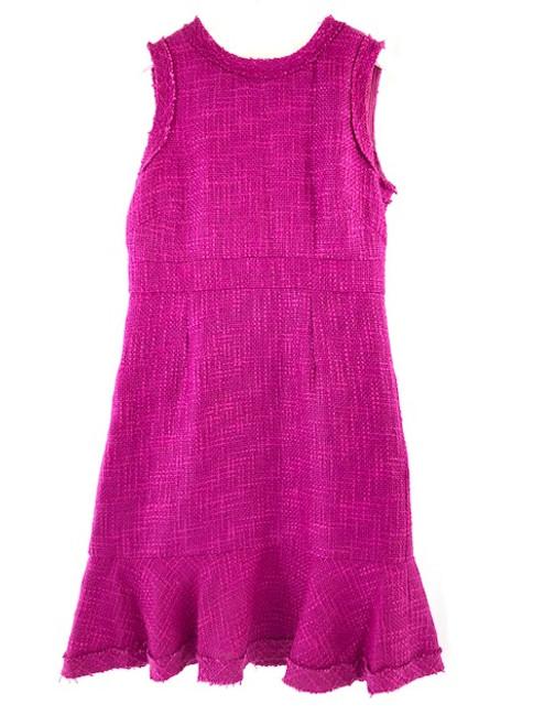 Jade Frayed Tweed Dress