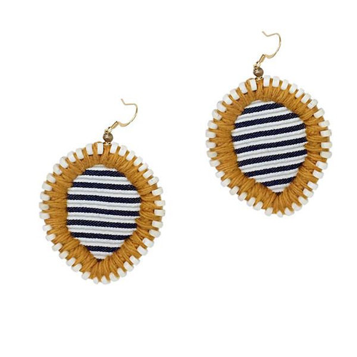 Gaia Oxford Embroidered Earrings