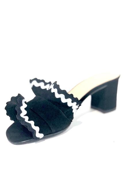 Brenda Zaro Polar Ruffle Sandal, Black
