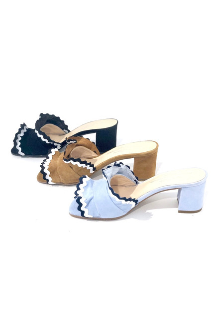 Brenda Zaro Polar Ruffle Sandal, Tan