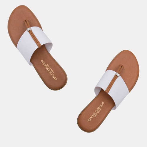Andre Assous Nice Sandals, White