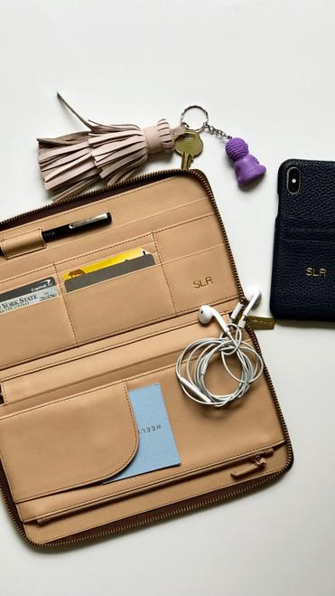 Neely & Chloe Travel Wallet, Black