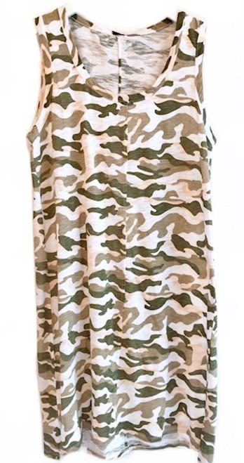 Bobi Camo Tank Dress
