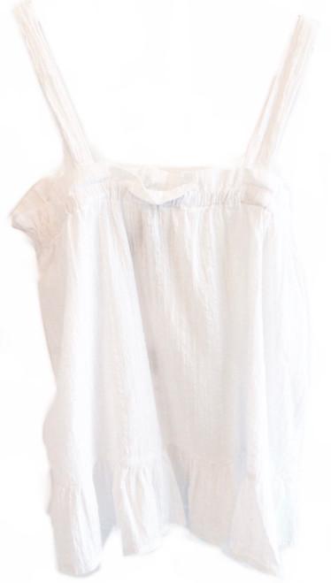 Bobi Ruffle Cami Top, White
