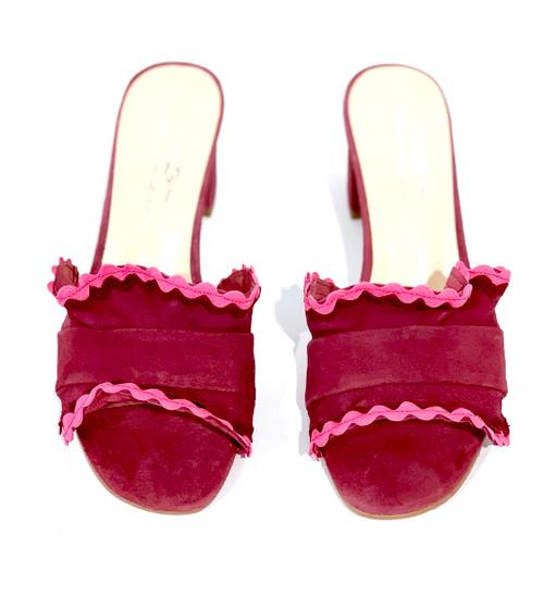 Brenda Zaro Polar Ruffle Sandal, Berry