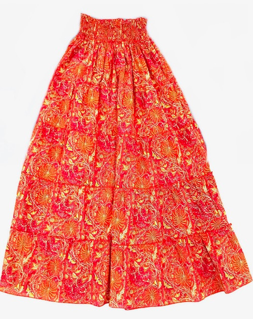 Pink City Prints Rah Rah Skirt, Jungle Fire