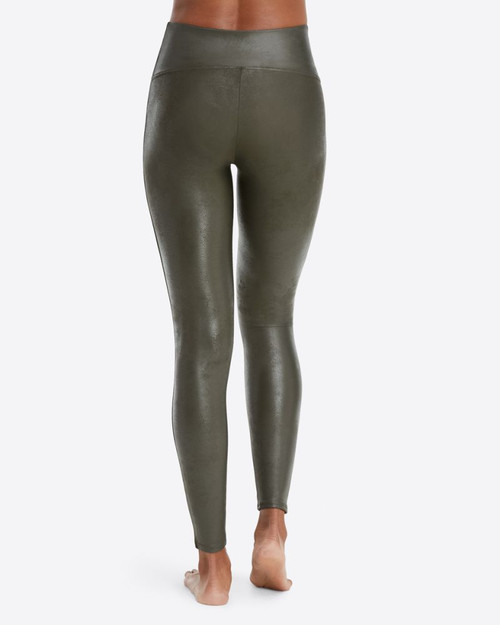 Spanx Faux Leather Leggings, Olive