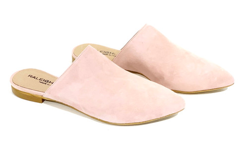 Raleigh Label Blush Suede Slide