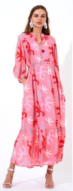 Oliphant Cozumel Pink Shirt Dress