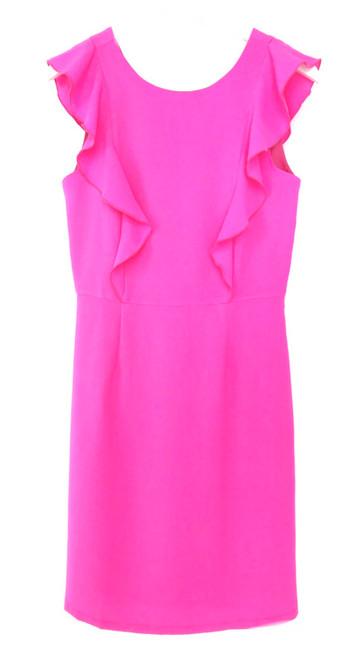 Jade Ruffle Sheath Dress
