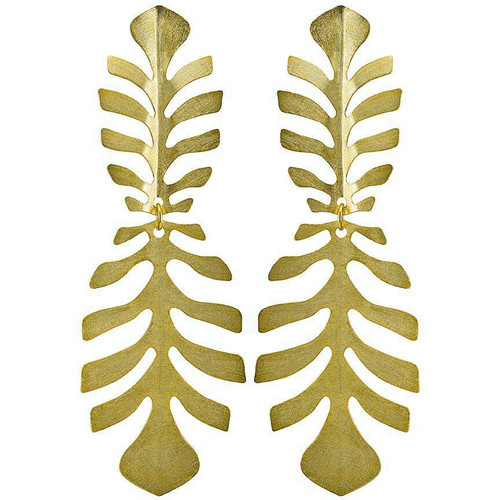 Sheila Fajl Adam Rib Leaf Earrings