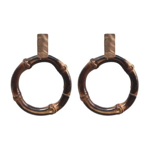 Dark Bamboo Drop Earrings